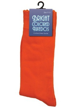 Orange Dress Socks