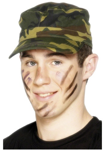 Green Camouflage Army Cap