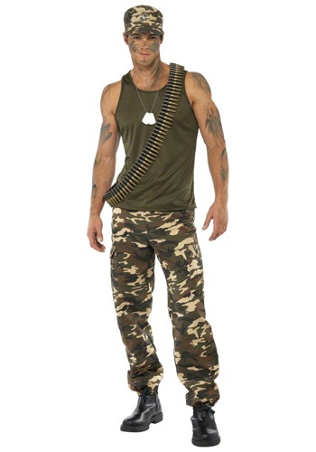 Male Khaki Camo Costume
