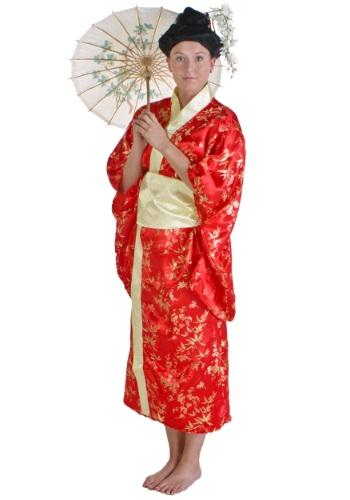 Womens Red Kimono