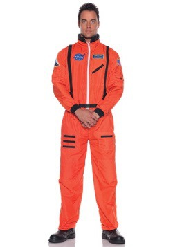 Mens Orange Astronaut Costume