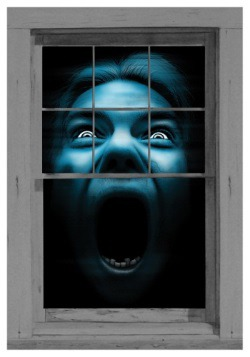Silent Shrieker Window Cling