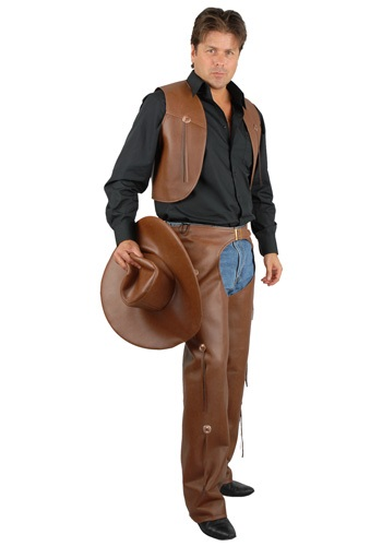 Men's Brown Chaps and Vest