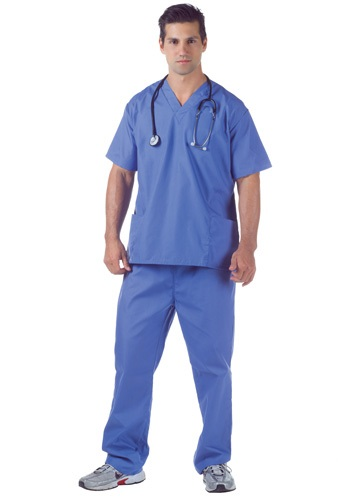 Plus Size Doctor Scrubs Costume
