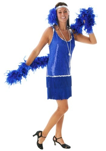 Plus Sequin & Fringe Blue Flapper