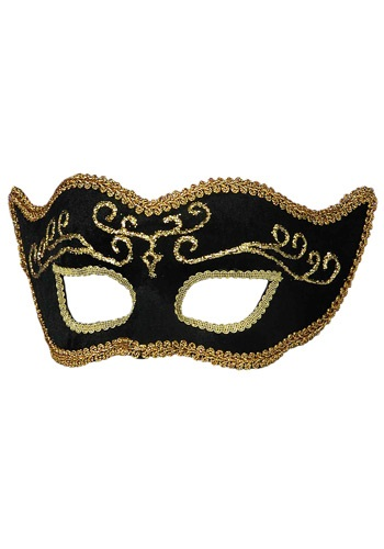 Black Velvet Mardi Gras Mask