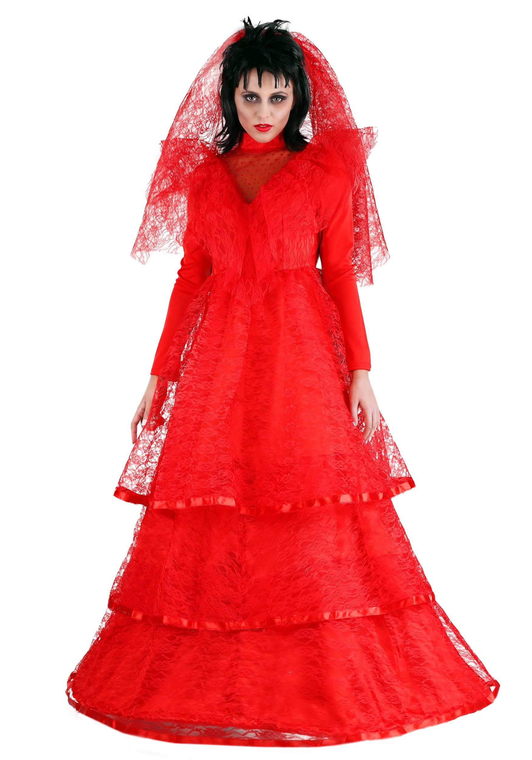 bdd6718bb3bf Plus Size Red Gothic Wedding Dress Costume update