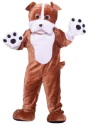 Plush Bulldog Mascot Costume