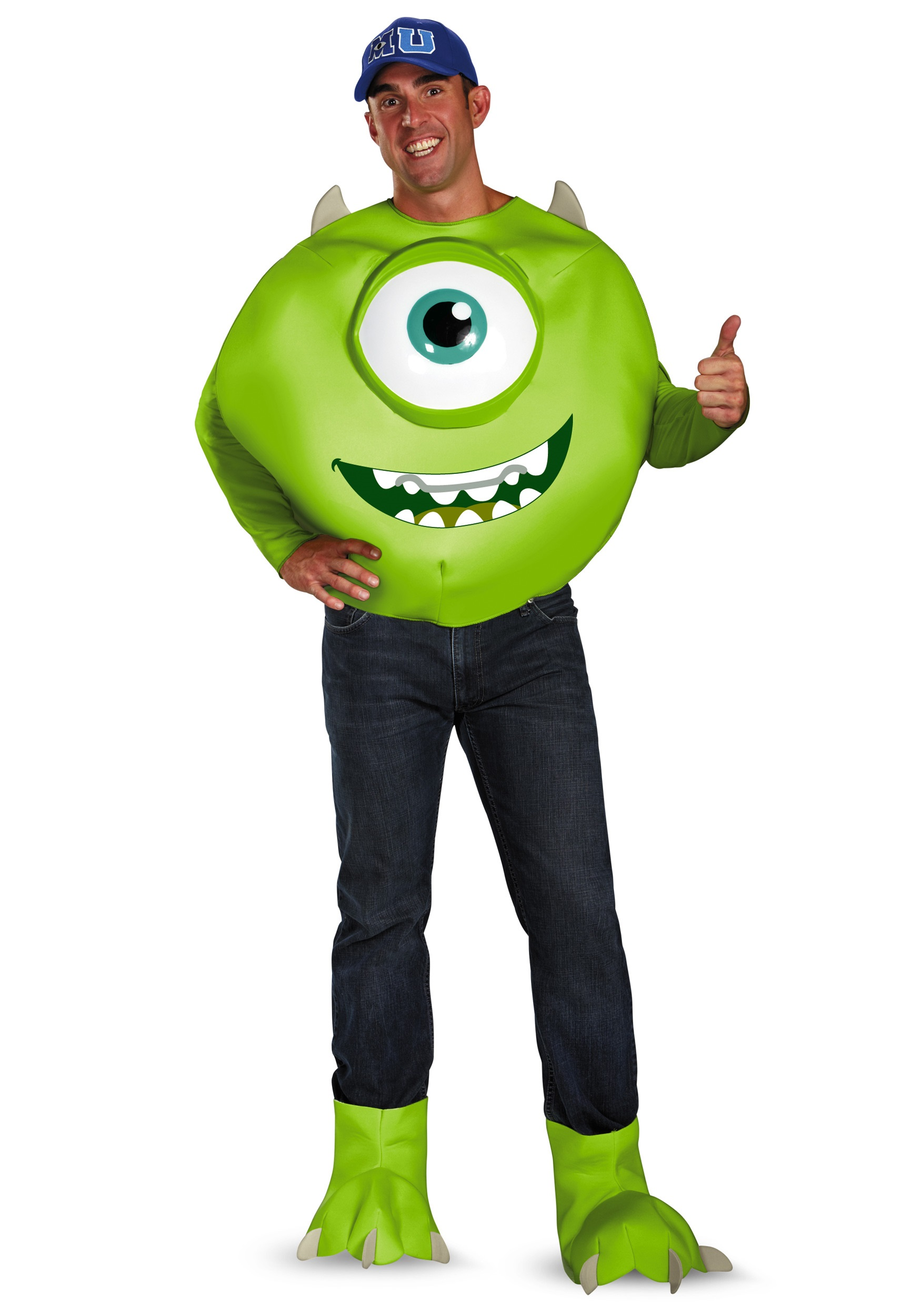 Monsters Inc Deluxe Adult Mike Costume ce631ebff049