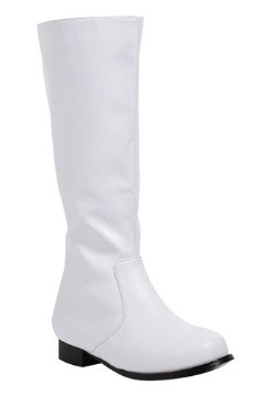 Boys White Costume Boots