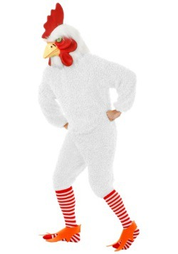 Plus Size White Rooster Costume