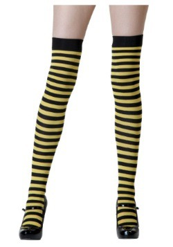 Black / Yellow Striped Stockings