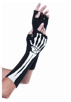 Skeleton Fingerless Gloves