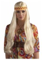 Blonde Hippie Chick Wig w/Headband