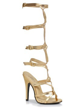 Womens Gold Goddess Heels
