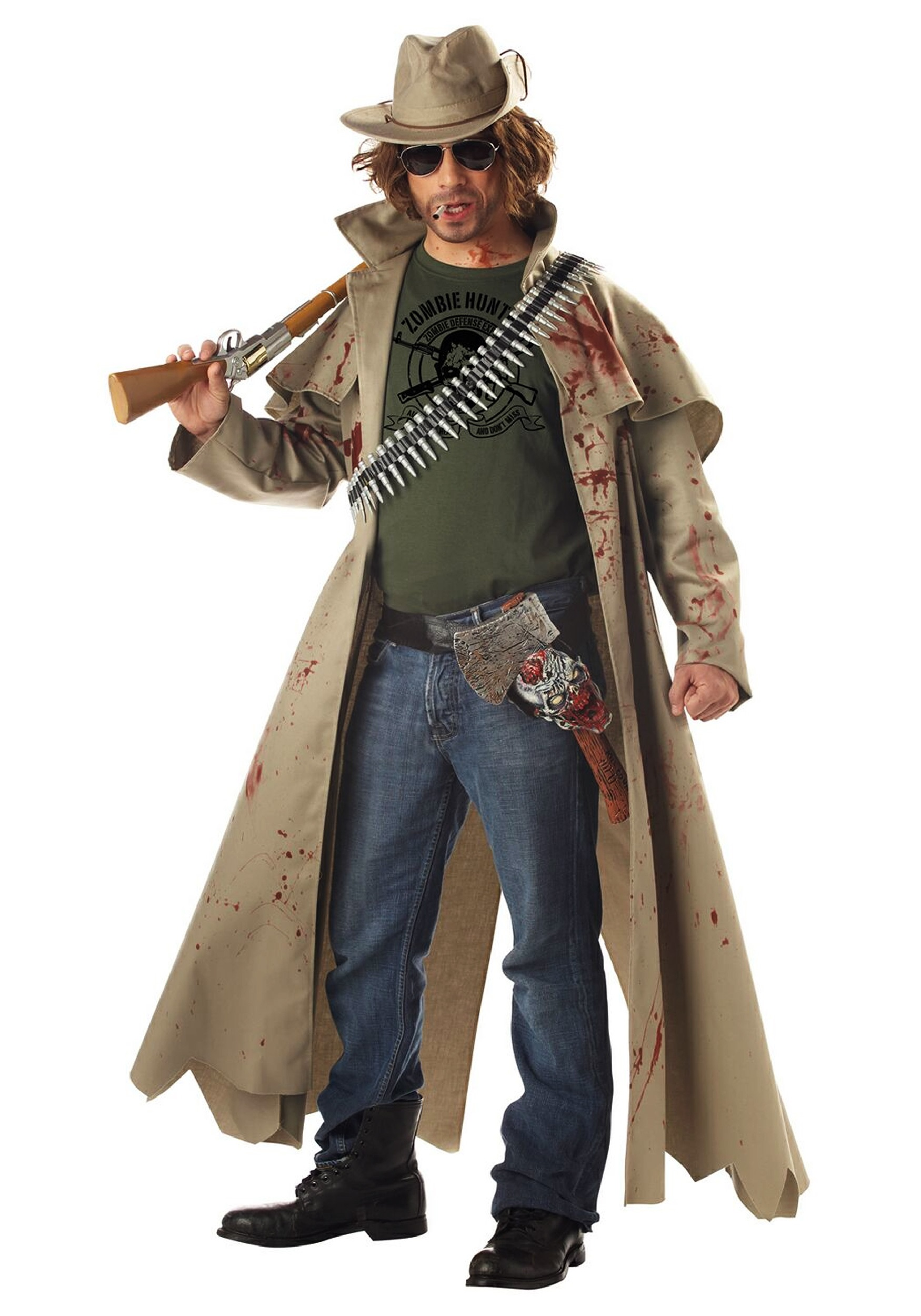 INOpets.com Anything for Pets Parents & Their Pets Zombie Hunter Fancy Dress Costume