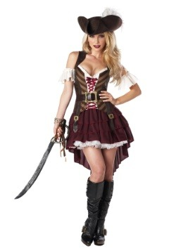Plus Sexy Swashbuckler Captain Costume