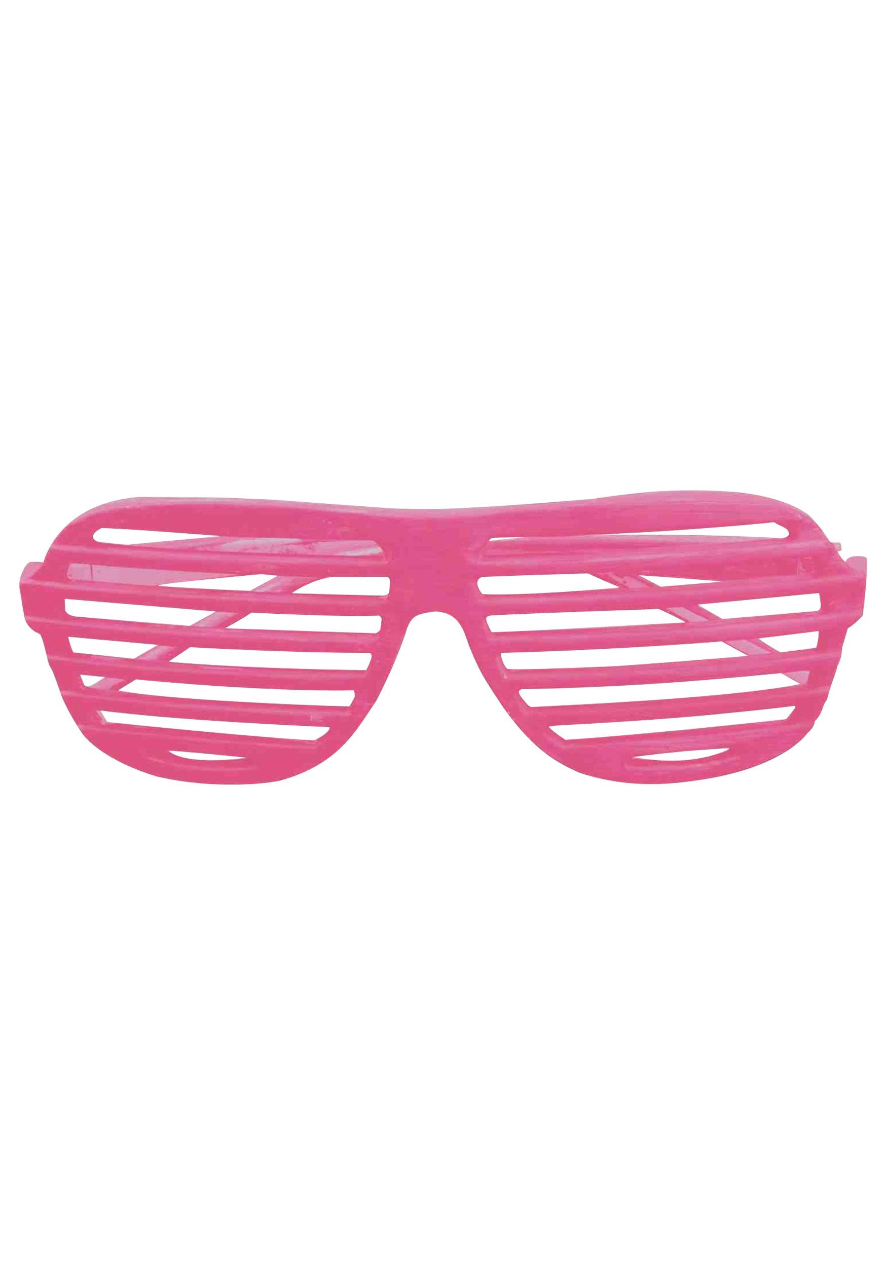 Neon Pink 80s Shades