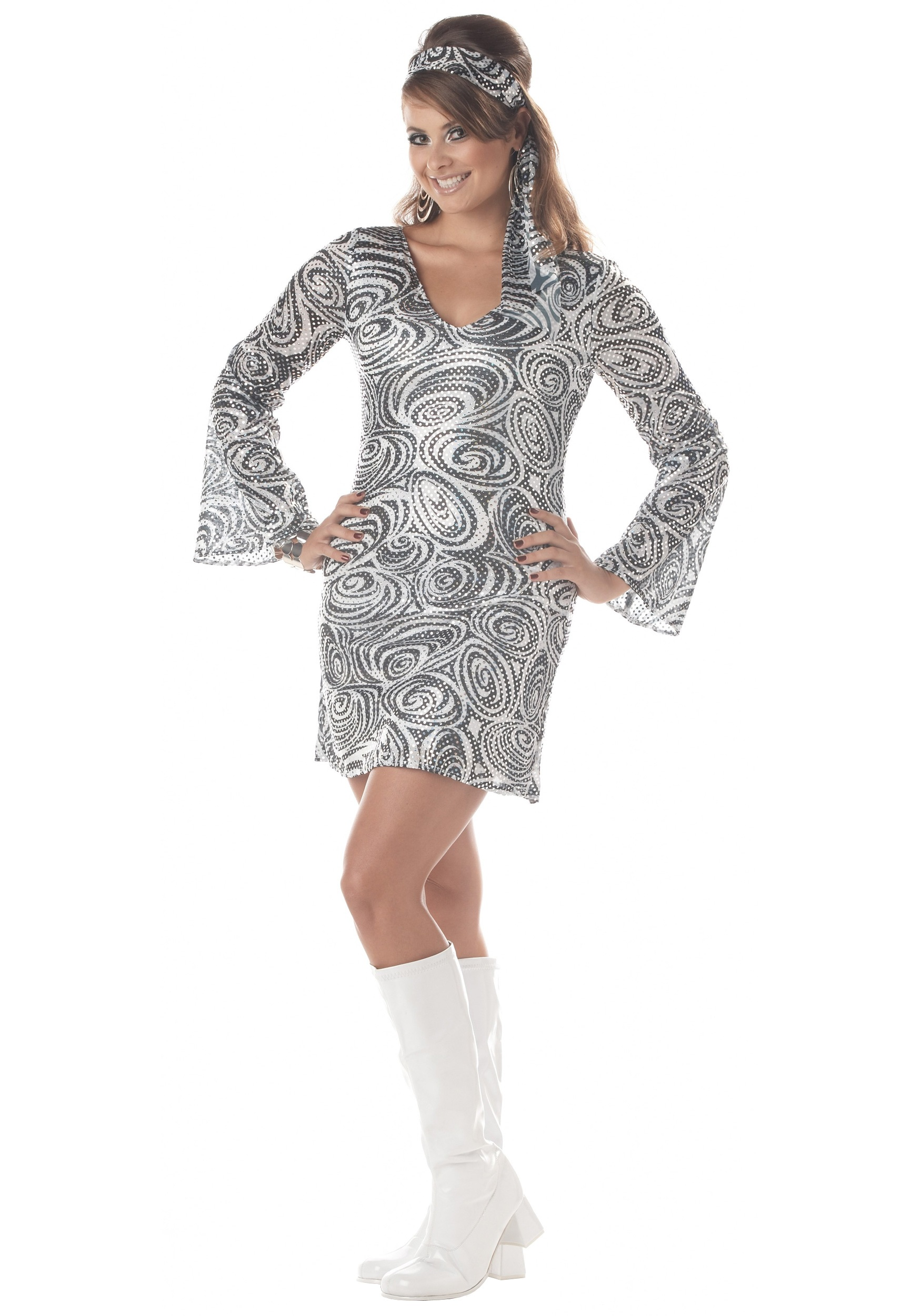 96ca969fc7 Plus Size Disco Diva Dress Costume - Adult Disco Party Costumes 1X 2X 3X