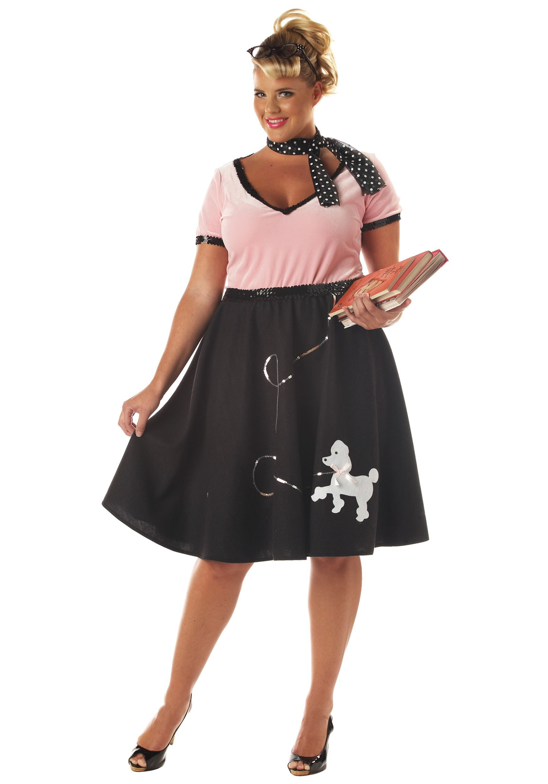 50S Halloween Costume | Plus Size 50s Sweetheart Costume Sock Hop Halloween Costumes