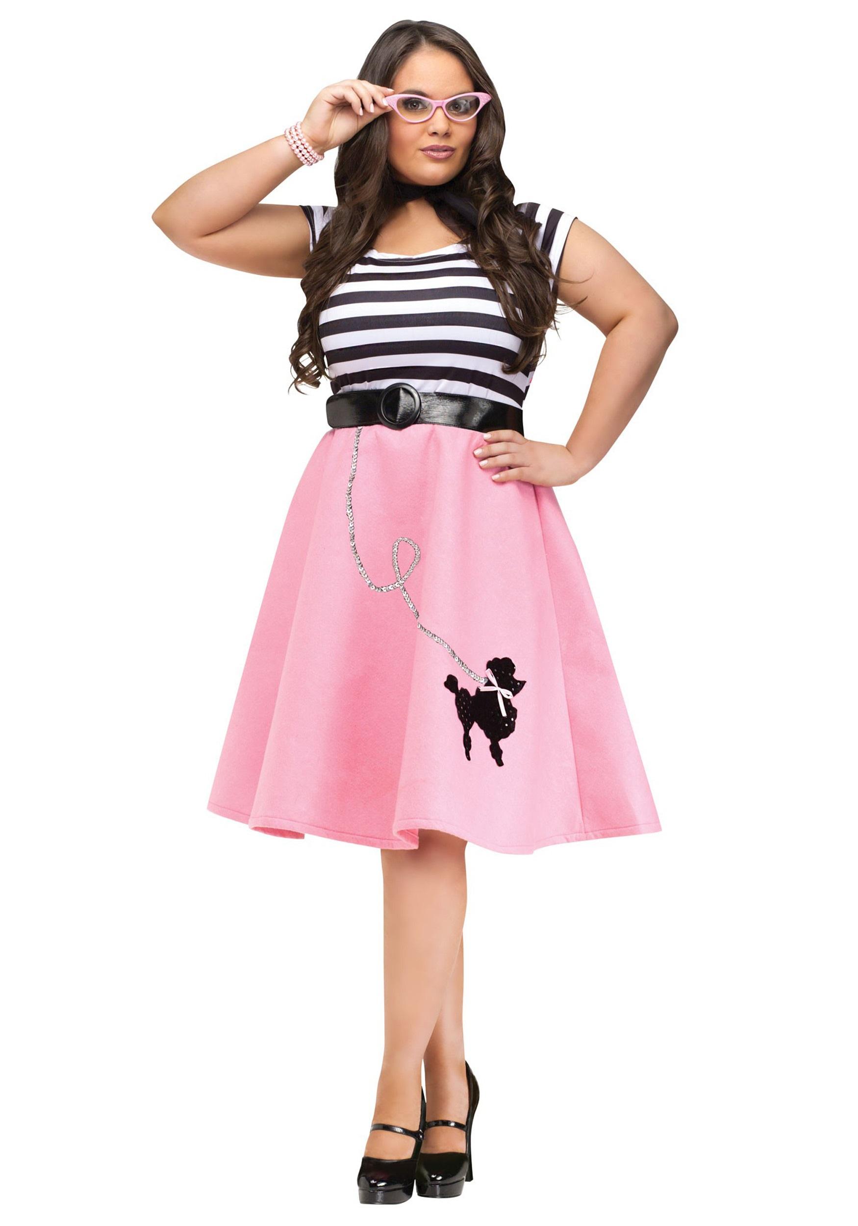 878d009b988b1 Poodle Skirt Dress Costume- Plus Size