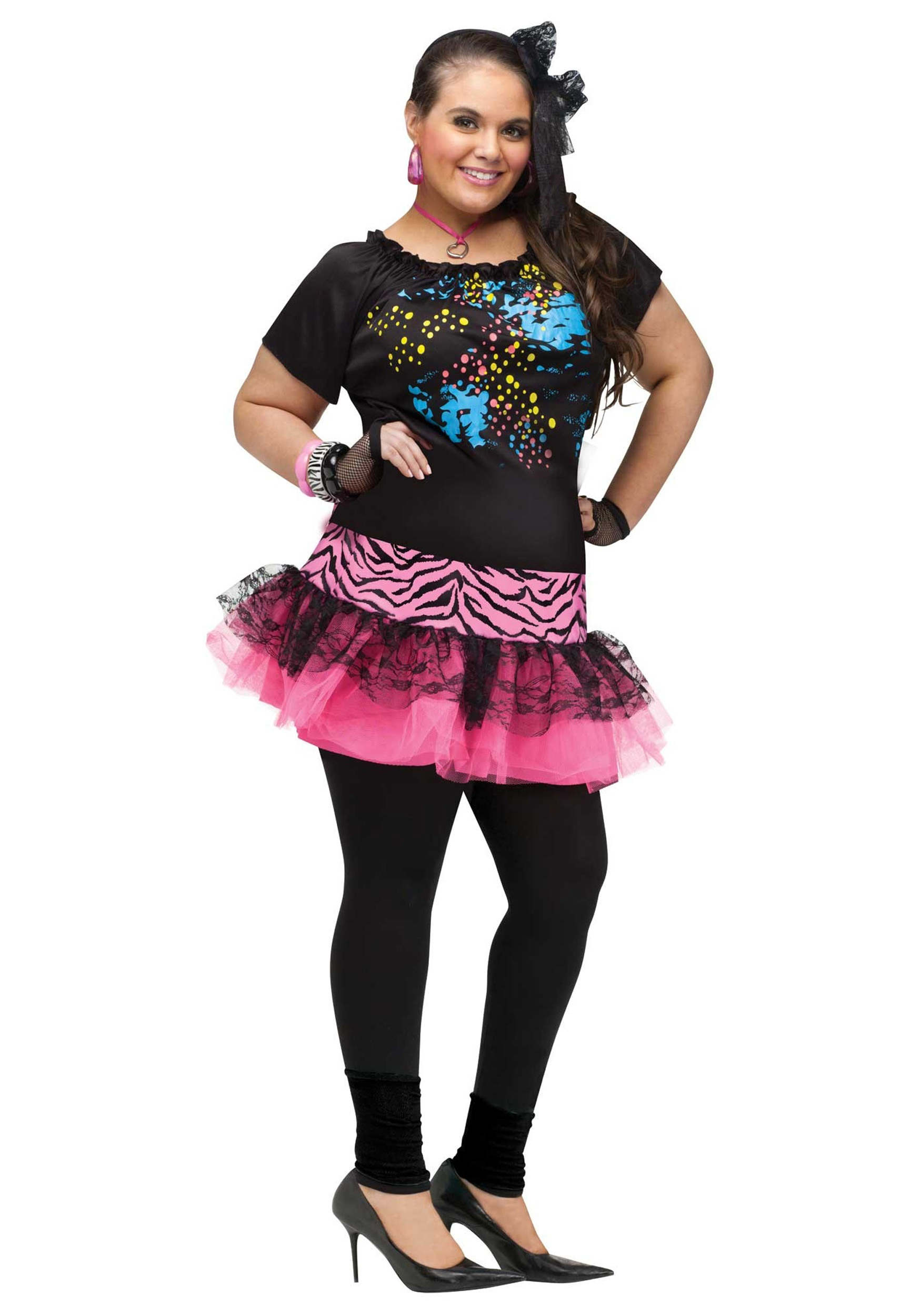 ede71535ad Plus Size 80s Pop Party Costume