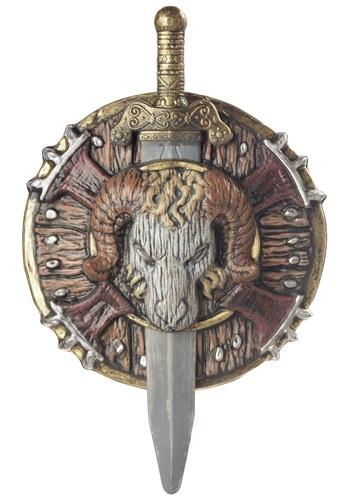 Barbarian Combat Shield and Sword