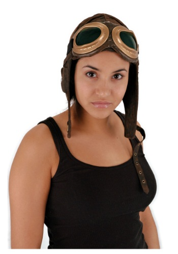 Aviator Brown Hat and Goggles