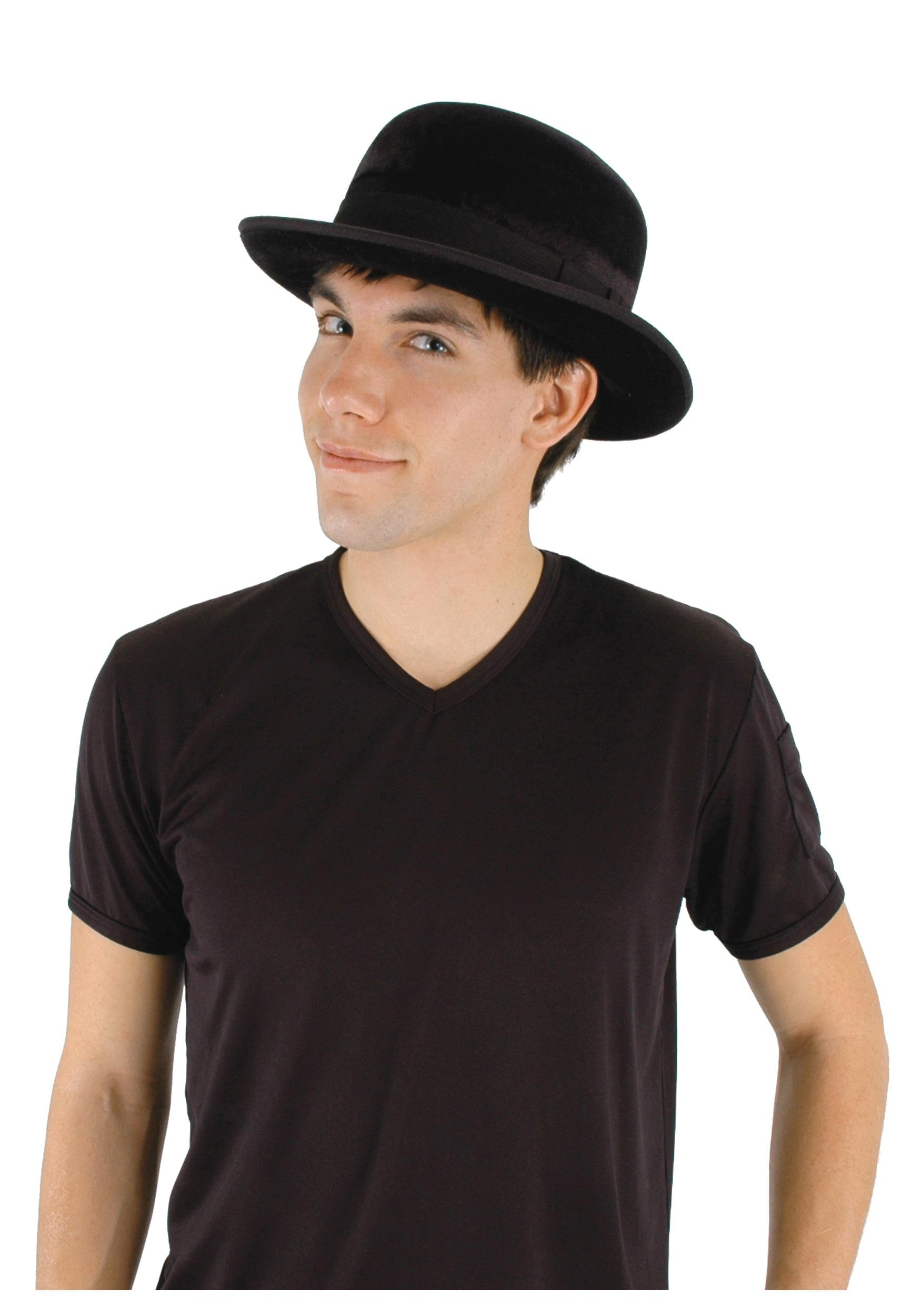 c5279f98147 Black Velour Bowler Hat