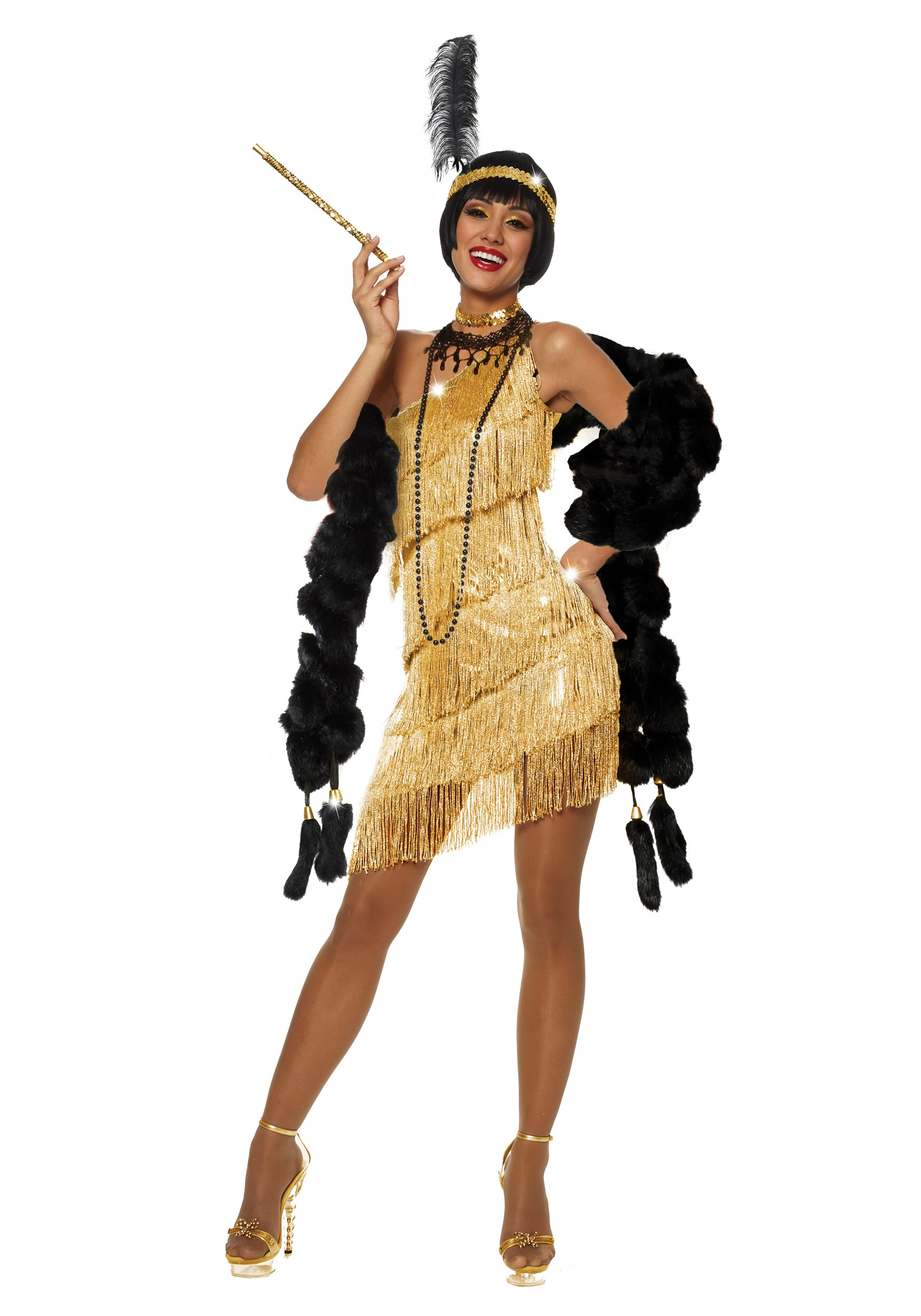 halloween b sequin blackgold gold costumes black flapper costume