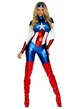 Women's American Beauty Superhero Costume
