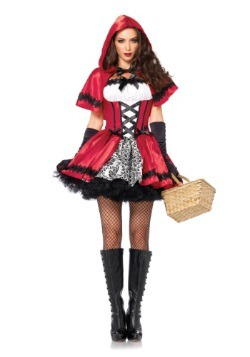 Gothic Red Riding Hood Adult Costume