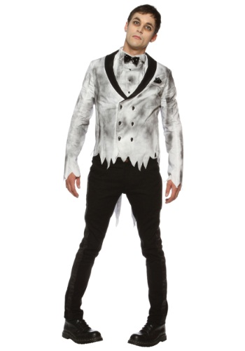 Mens Plus Size Zombie Groom Costume