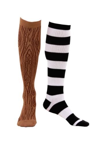 Knee-High Mismatched Pirate Socks