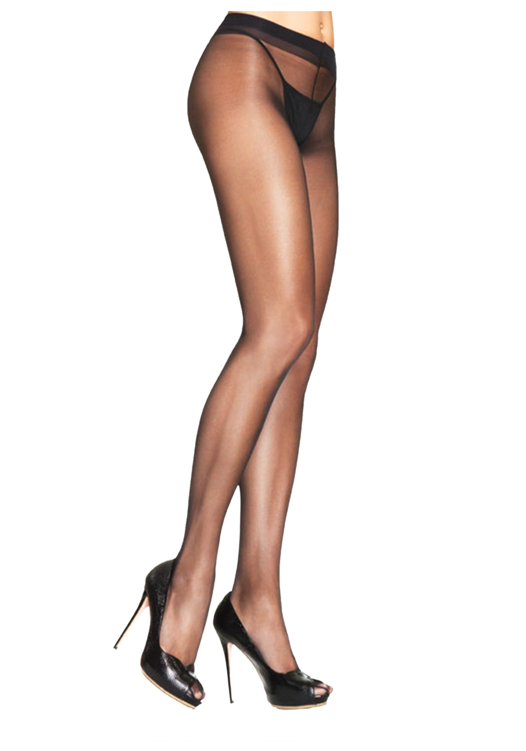 Black sheer pantyhose