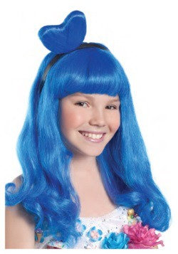 California Blue Candy Girl Child Wig
