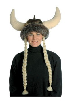 Plush Viking Hat w/Braids
