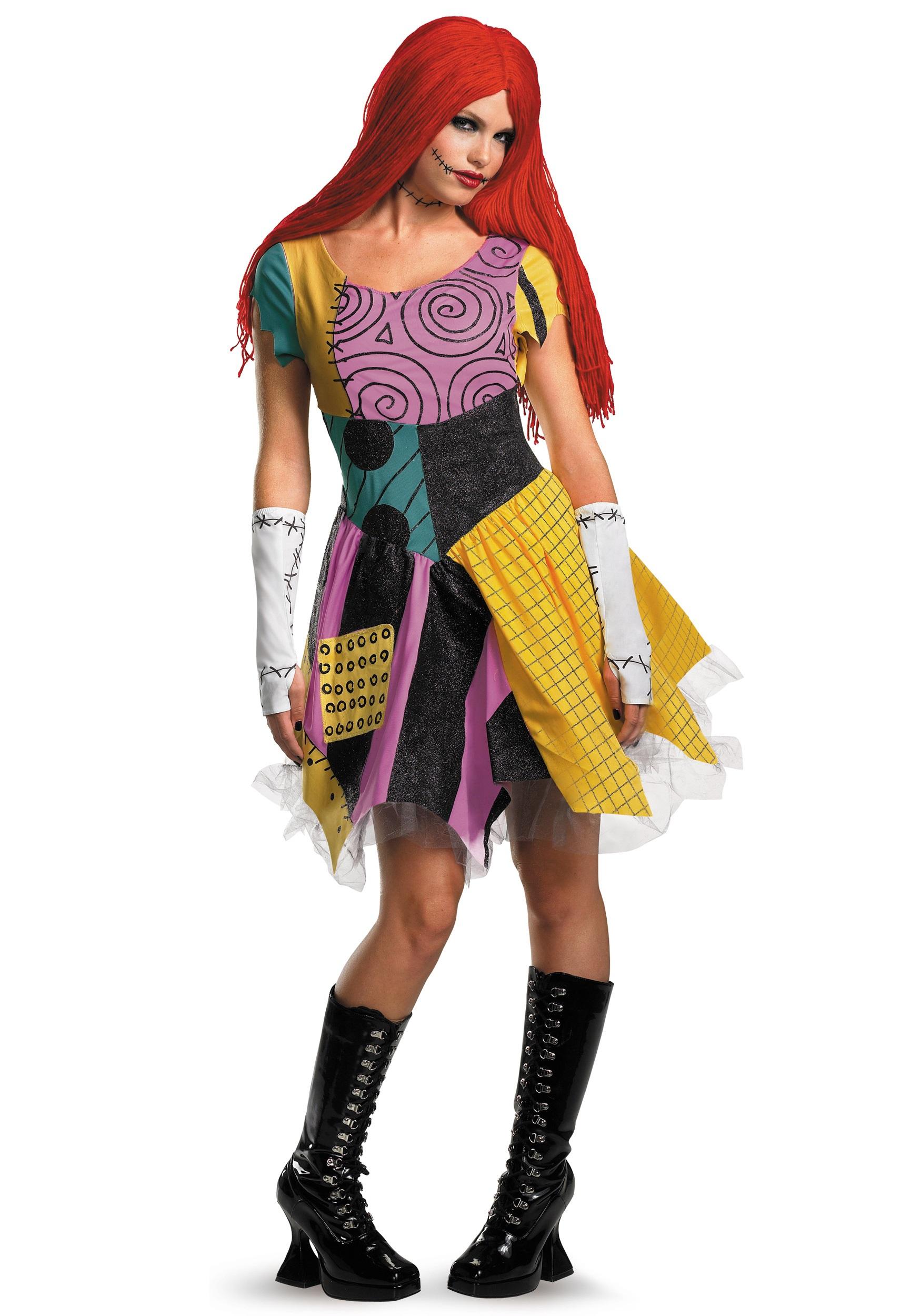 WIG Ladies Sally Nightmare Before Xmas Halloween Fancy Dress Costume Outfit