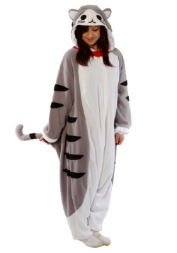 Adult Tabby Cat Pajama Costume