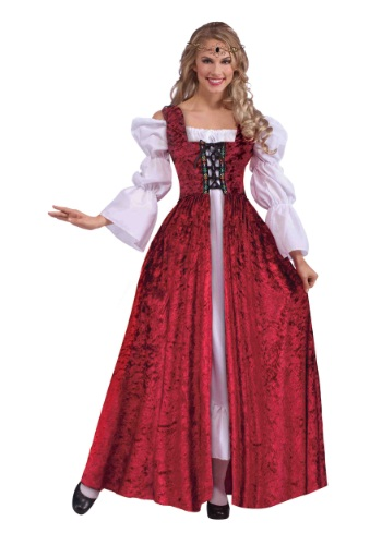 Womens Medieval Lace Up Gown