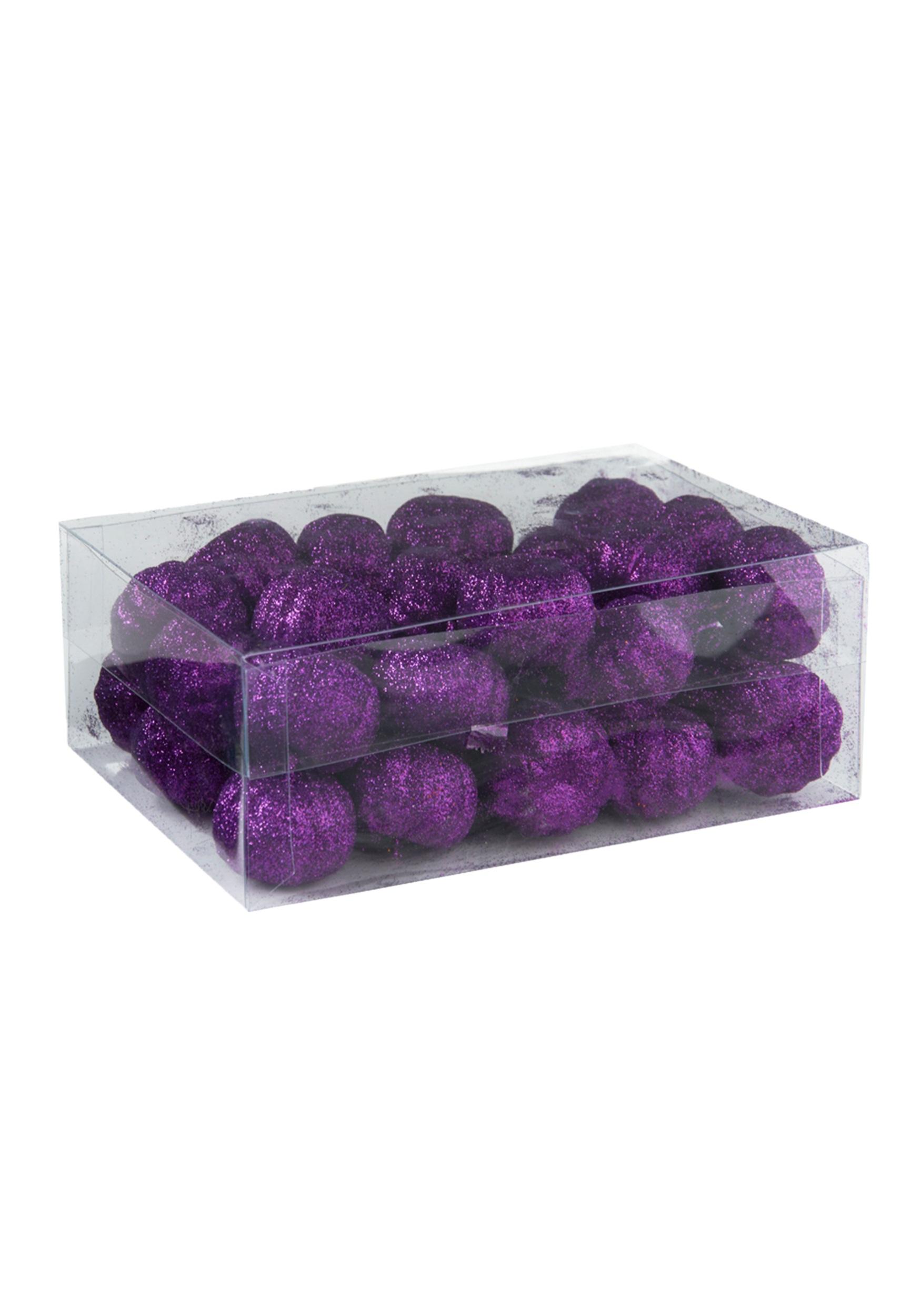 36 Piece Fall Winter Capsule Wardrobe: 36 Piece Purple Glitter Mini Pumpkins