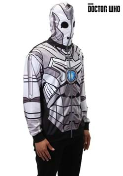 Doctor Who Cyberman Full Zip Up Hoodie 1
