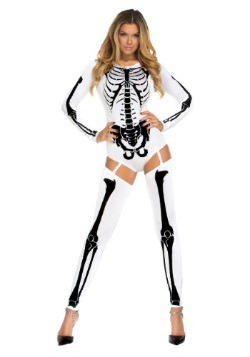 Womens White Bad to the Bone Costume 1