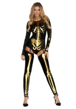 Women's Gold Bad to the Bone Costume