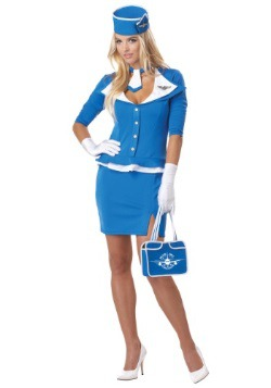 Plus Size Retro Stewardess Costume