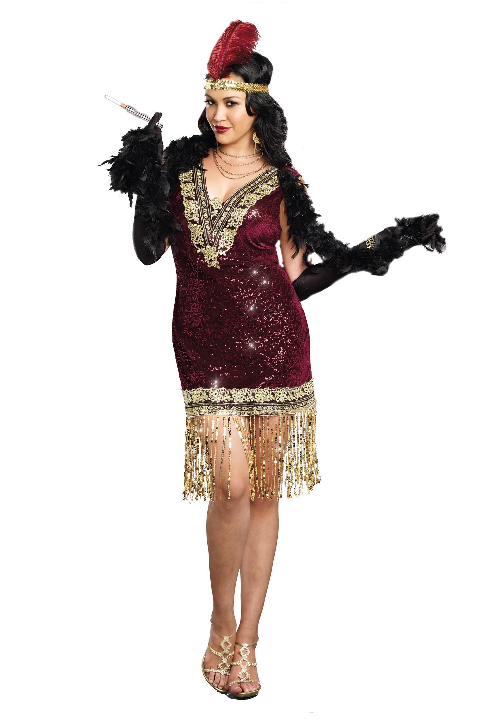 b18d6b3545d Plus Size Sophisticated Lady Flapper Costume Dress
