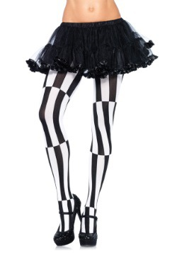 Plus Size Striped Optical Illusion Tights