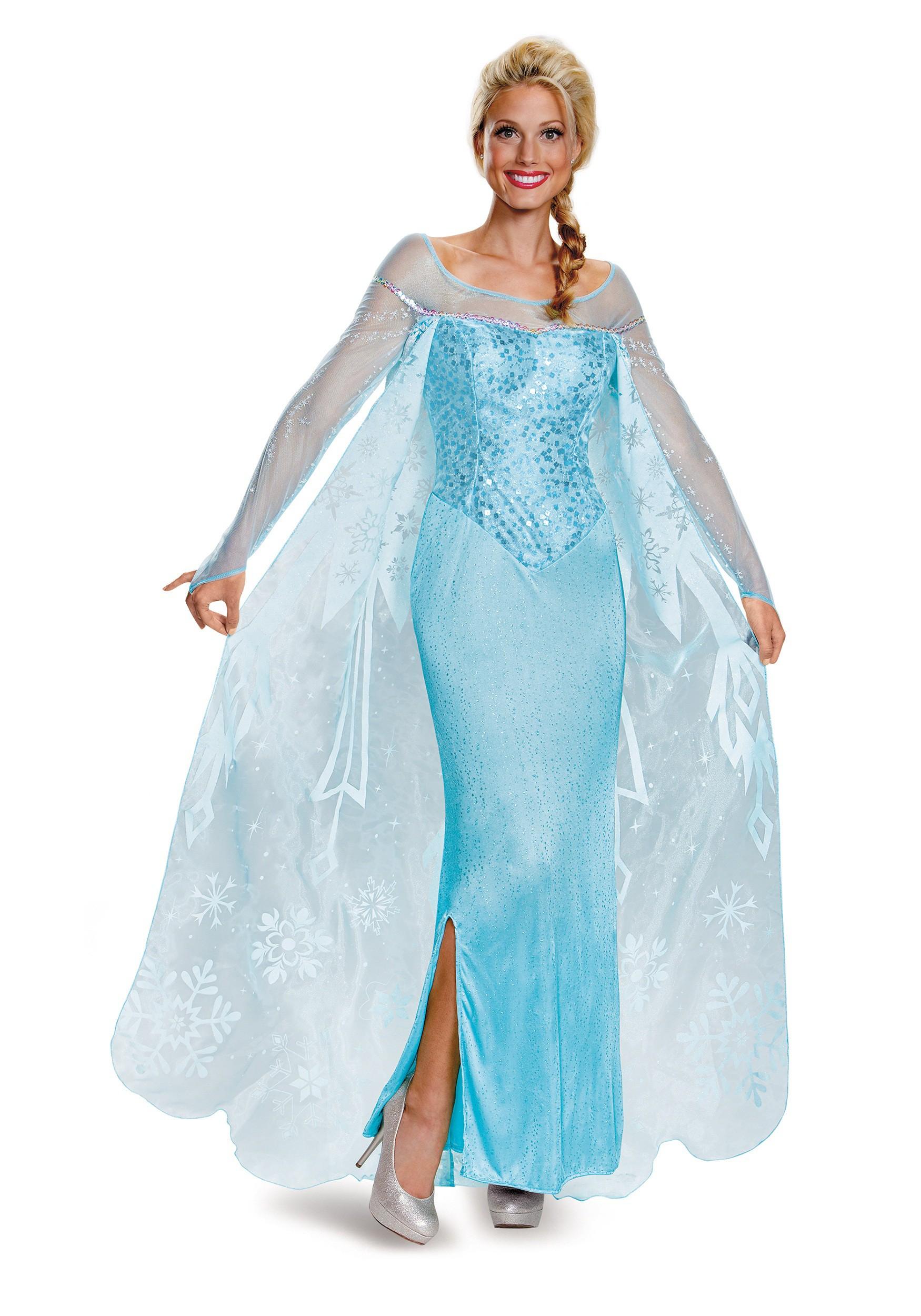 sc 1 st  Halloween Costumes UK & Frozen Adult Elsa Prestige Costume