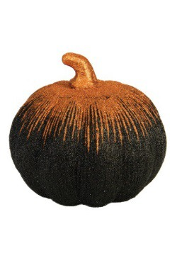 "8"" Orange And Black Starburst Pumpkin"