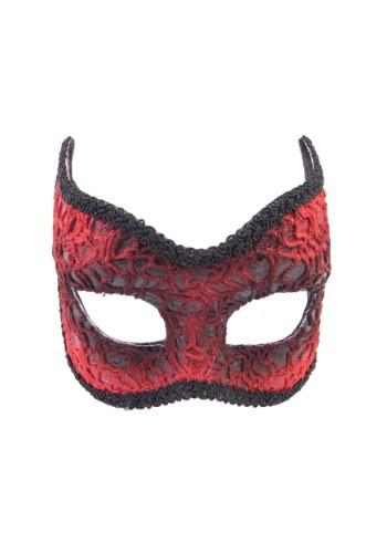Adult Red Lace Devil Mask